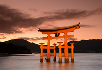 Miyajima Island's isolated Tori Gate