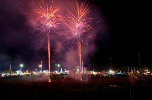 fireworks at showground